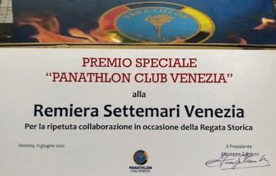 IL PANATHLON CLUB VENEZIA PREMIA LA SETTEMARI